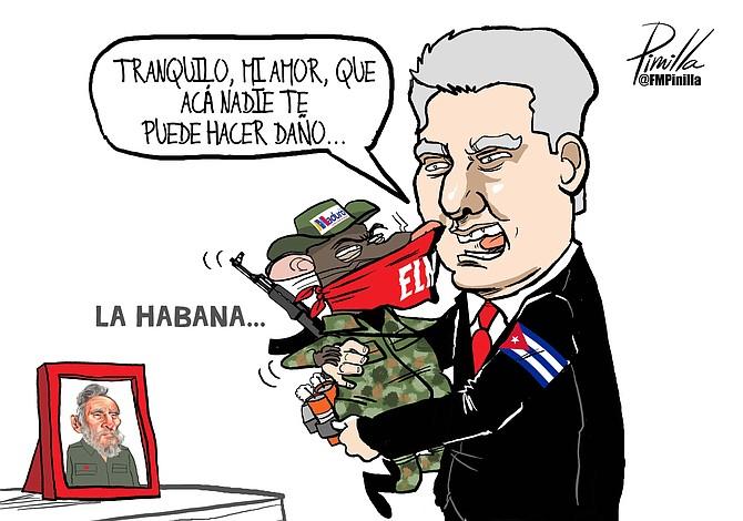 Caricatura de Pinilla: Tranquilo, mi amor, que acá nadie te puede hacer daño
