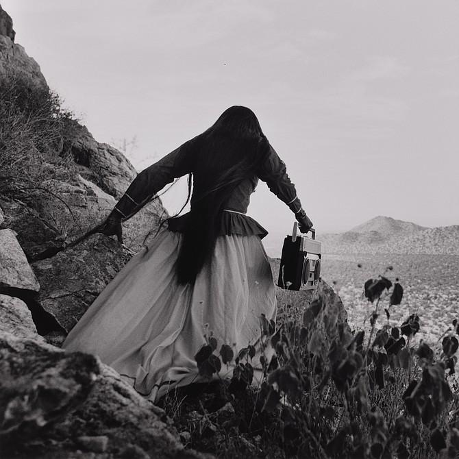 Angel Woman, Sonora Desert / Mujer Ángel, Desierto de Sonora México, 1979 Graciela Iturbide (Mexican, born in 1942) Photograph, gelatin silver print *Elizabeth and Michael Marcus *© Graciela Iturbide *Courtesy, Museum of Fine Arts, Boston