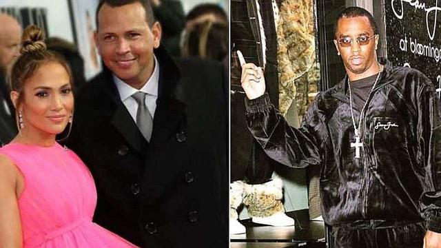 SHOW. Foto de JLo junto con su pareja actual, Alex Rodríguez; y el la otra imagen ex novio Sean John Combs