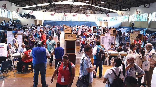 ELECCIONES. Foto del proceso electoral para elegir al presidente de El Salvador, el domingo 3 de febrero de 2019. | Foto: EDH/Menly Cortez