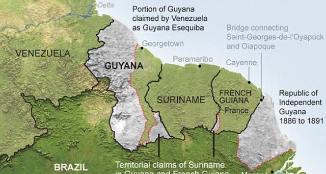 DISPUTA. El Acuerdo de Ginebra estableció los pasos que debían seguirse para solucionar el conflicto fronterizo luego de la denuncia de nulidad entablada por Venezuela respecto al Laudo Arbitral de París 1899 que cedió a Gran Bretaña 159.500 km² de su territorio al oeste del río Esequibo.