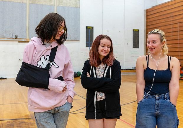 Estudiantes de Interagency at Queen Anne en Seattle durante una clase de educación física el 13 de diciembre de 2018.
