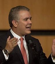 COLOMBIA. Fotografía cedida por la presidencia de Colombia muestra al mandatario, Iván Duque