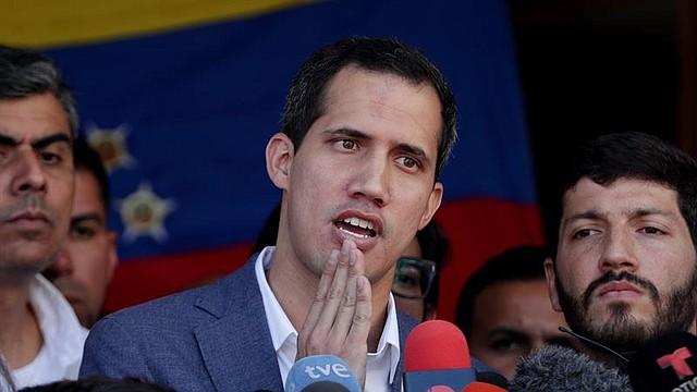 VENEZUELA.  El jefe del Parlamento venezolano, Juan Guaidó