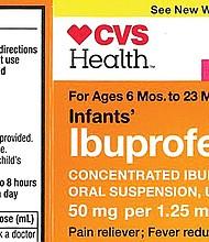 Evite el Ibuprofeno para niños.