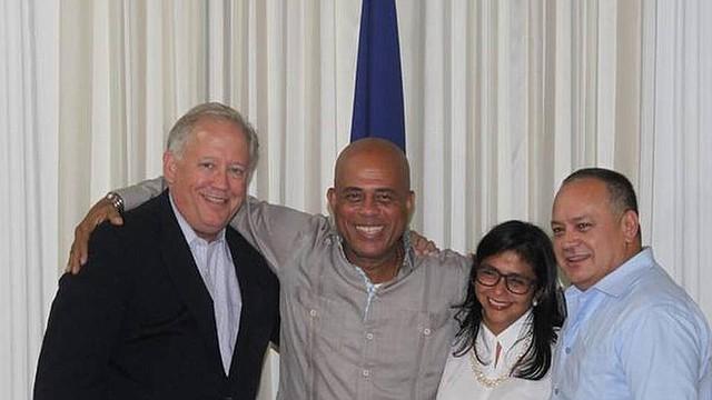 Thomas Shannon, Michel Martelly, Delcy Rodríguez y Diosdado Cabello