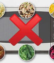 Evita recalentar estos alimentos.