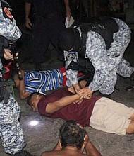 OPERATIVO. Dentro de las filas policiales ha habido funcionarios de seguridad acusados de pertenecer a las maras.