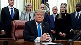POLÍTICA. El presidente de los Estados Unidos, Donald J. Trump desde el Despacho Oval de la Casa Blanca, en Washington