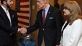 EL SALVADOR. El senador Tom Carper y la delegación de congresistas se reunieron con el presidente electo