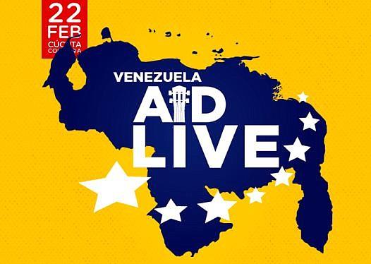 AYUDA. Foto promocional del concierto previsto en Cúcuta a favor de Venezuela