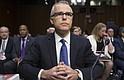 NACIONAL. El ex director del FBI, Andrew McCabe, durante una audiencia del Comité de Inteligencia del Senado sobre las 'Amenazas Mundiales' en el Capitolio, Washington.