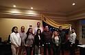 SAN JOSÉ. La embajadora aparece en una foto junto con varias personas y una bandera de Venezuela