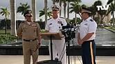 CONFLICTO. Rueda de prensa del almirante Craig Faller, jefe del Comando Sur, junto con el comandante general de las Fuerzas Militares de Colombia, el mayor general Luis Navarro Jiménez