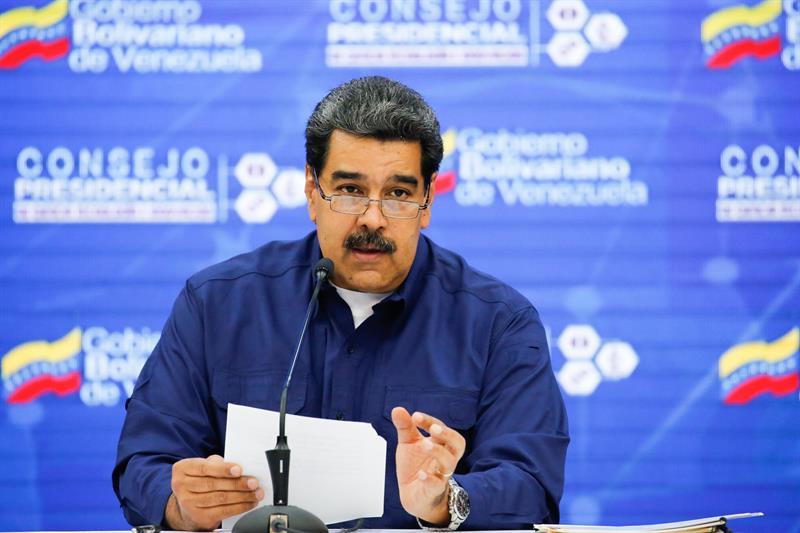 VENEZUELA. Fotografía cedida por prensa de Miraflores donde se observa a Nicolás Maduro