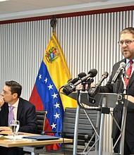 VENEZUELA. Gustavo Marcano, diplomático venezolano en EE.UU.