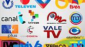 Foto referencial con los logos de los canales venezolanos