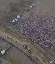CÚCUTA. Foto aérea de la asistencia al concierto Venezuel Aid Live
