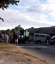 SUCESO. Foto del lugar del incidente en la Gran Sabana