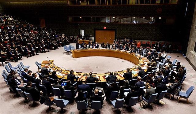 Vista general de una reunión en el Consejo de Seguridad de Naciones Unidas en Nueva York. | Foto de archivo: EFE/Justin Lane