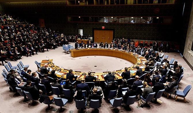 Vista general este martes de una reunión de urgencia sobre Venezuela en el Consejo de Seguridad de Naciones Unidas solicitada por Estados Unidos, en Nueva York