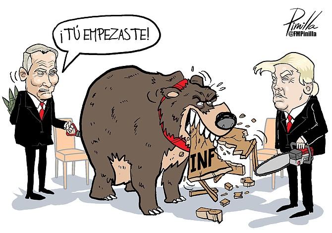Caricatura de Pinilla: Rusia y EEUU fuera del INF