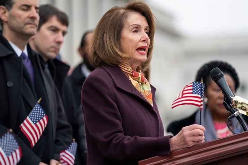 POLÍTICA. La presidenta de la Cámara Baja de Estados Unidos, la demócrata Nancy Pelosi