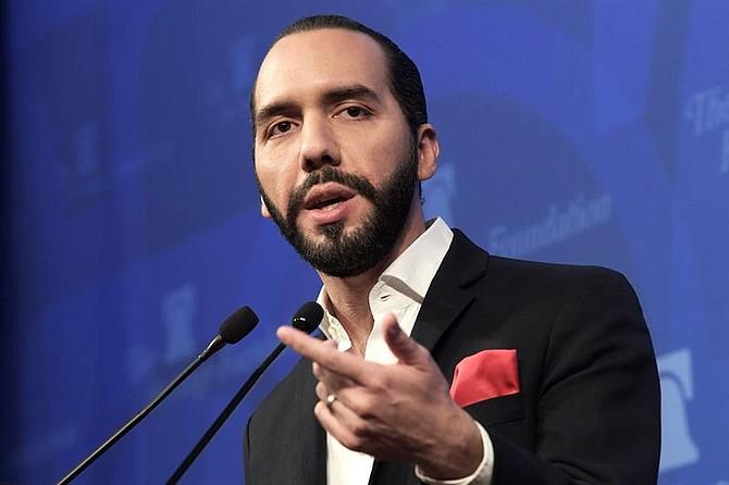 """PONENCIA. El presidente electo de El Salvador, Nayib Bukele, habla en el conservatorio titulado """"Nueva era en El Salvador"""" celebrado este miércoles en el centro de pensamiento Heritage Foundation, en Washington"""