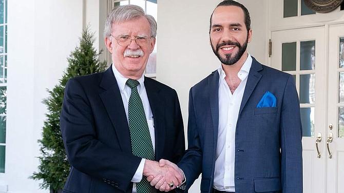 John Bolton y Nayib Bukele reunidos en Washington