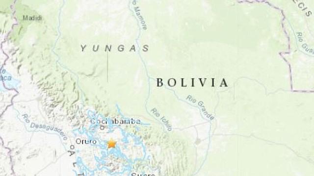 NATURALEZA. El sismo de magnitud 6.3 grados se registró al sureste de Bolivia sin reportar daños personales o materiales
