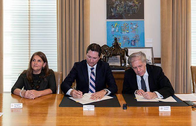 OEA. El acuerdo impulsará una certificación en innovación parlamentaria