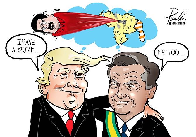 Caricatura de Pinilla: I have a dream