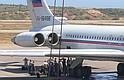 CARACAS.  Foto de uno de los dos aviones rusos en el Aeropuerto de Maiquetía