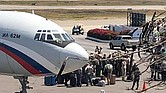 Esta es una de los aeronaves rusas que aterrizaron en Venezuela con personal militar y equipos militares.