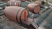 IMPRESIONANTE. En la ciudad de Tequila (Jalisco) un empresario construyó un hotel con barriles donde se prepara esta legendaria bebida mexicana.