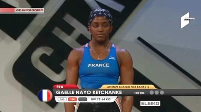 DEPORTE. Gaelle Nayo Ketchanke, levantadora de pesas de Francia de 31 años de edad