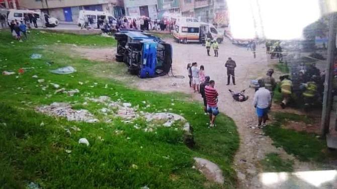 SUCESO. El accidente fue atendido por la Policía, la Secretaría Distrital de Salud y el CTI de la Policía.