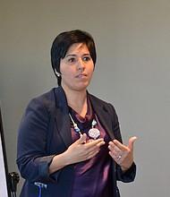 DEMANDA. Lourdes Morales, gerente de Negocios de la Agencia de Desarrollo Económico de Arlington, VA dice que hay mucha demanda para estos seminarios.