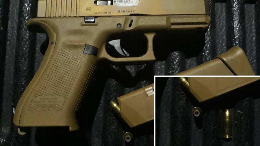 SUCESO. Los agentes captores revelaron el arma y la munición que usaba el sujeto y varias de las balas son expansivas