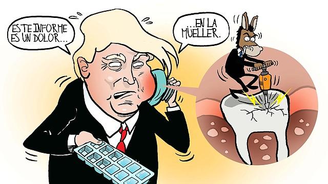 CARICATURA | Trump tiene dolor de Mueller