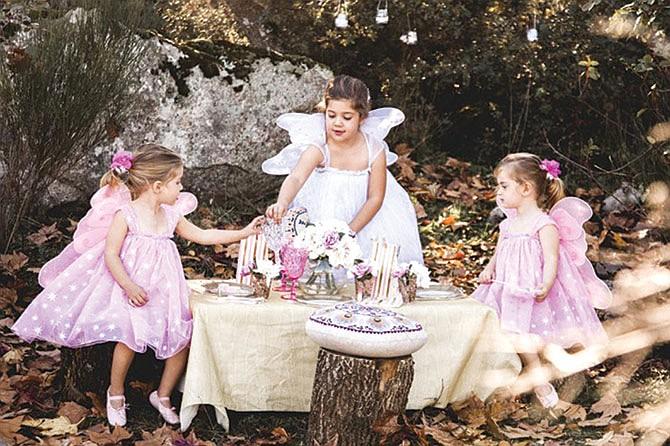 Fiesta de té, hadas y princesas