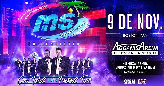 La Banda MS llega al Agganis Arena de Boston el sábado 9 de noviembre.