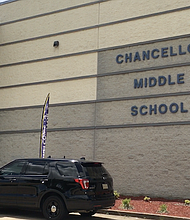 ESCUELA. La Chancellor Middle School en Spotsylvania, Virginia.