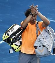 VENCIDO. Rafael Nadal amenazó con no regresar luego de caer ante Fernando Verdasco