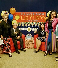 EQUIPO. El equipo de Panorama Latino (De izq. a der.): Steve Sherman, Stephanie Williams, Alfredo Del Arroyo, Suzanne Álvarez Przygoda, María Kennedy, Luz Stella Mejía y Ofelia Álvarez.