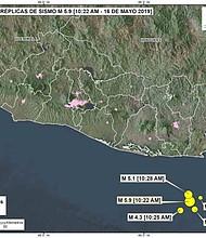 TEMBLOR. Un fuerte sismo y sus réplicas generan alarma en El Salvador.