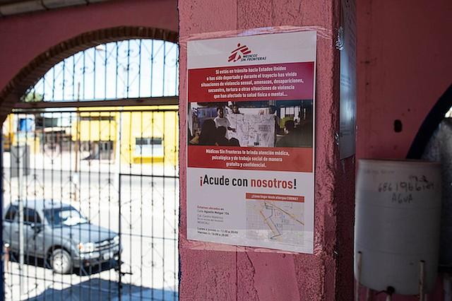Médicos sin Fronteras abrió una clínica en Mexicali en abril. La organización, conocida por su trabajo en zonas de crisis y guerras, eligió esta ciudad por la falta de servicios médicos para migrantes.