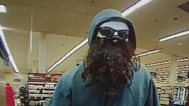 """SUCESO. El FBI ha apodado a este hombre """"El bandido peludo de la máscara"""" y dijo que ha robado cuatro bancos en Maryland Northern Virginia."""