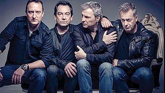 HOMBRES G. De izquierda a derecha: Dani Mezquita, Javi Molina, David Summers y Rafa Gutiérrez, integrantes de la legendaria banda española que debutó en 1985.