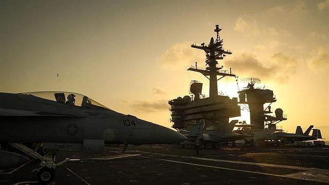 DEFENSA. Portaaviones estadounidense USS Abraham Lincoln